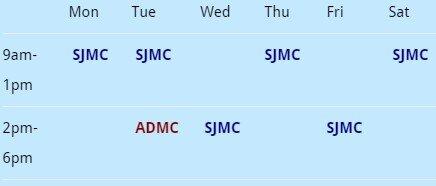 Dr Ng Eng Seng-Timetable